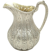 Antique Victorian Sterling Silver Jug 1856