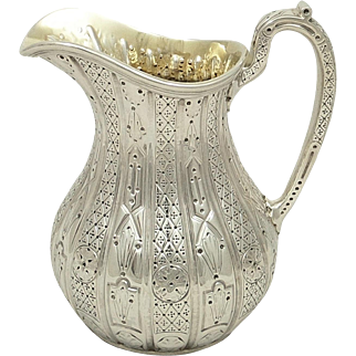 Antique Victorian Sterling Silver Jug 1856