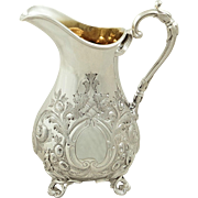 Antique Victorian Sterling Silver Jug 1861