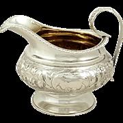 Antique Georgian Sterling Silver Jug 1828