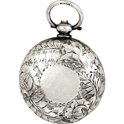 Antique Victorian Sterling Silver Sovereign Case 1890