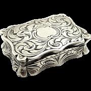 Antique Victorian Sterling Silver Vinaigrette 1855
