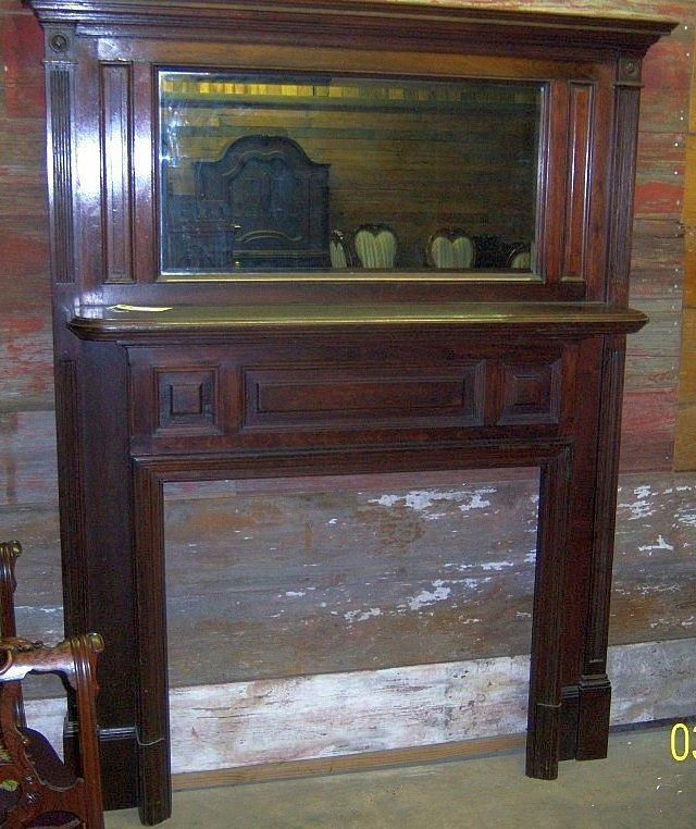 large mirror antique walnut walnut fireplace mantle with mirror federal colonial style