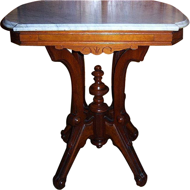 Perfect Walnut Lamp Table, Center Table, Victorian Marble Top