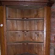Cherry Wood Corner Cupboard, 1840, Pennsylvania