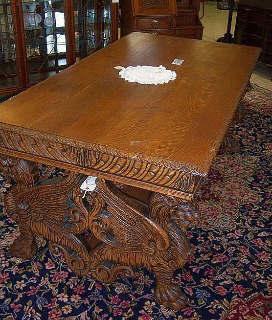 Oak Winged Griffin Partners Desk