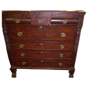 Mahogany Federal Empire Period, Butlers Desk, Secretary,1820