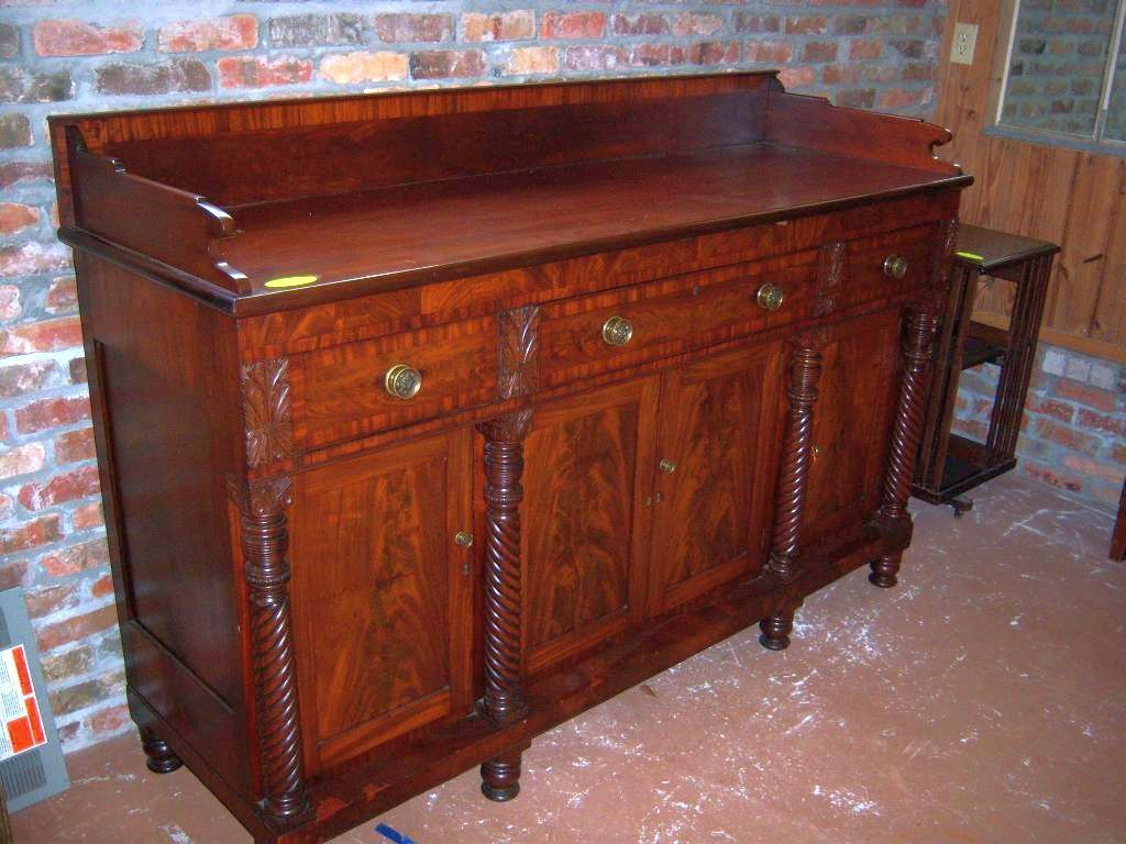Mahogany Sideboard Federal Empire Sheraton Period 1830 - Mahogany Sideboard Federal Empire Sheraton Period 1830 From