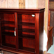 Mahogany Bookcase, Empire Revival Style, Two Door, 1890-1915