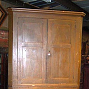 Corner Cupboard, Painted Grain, Two Piece, Pennsylvania, 1830