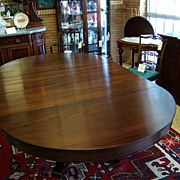 Mahogany Dining Table, Federal Empire Style, 5 Leaves