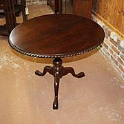 Walnut Tea Table with Tilt Top and Birdcage