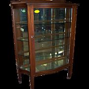 Mahogany China Cabinet, Serpentine Glass, , Hepplewhite Style