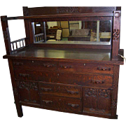 Oak, Mission, Arts and Crafts Style Sideboard
