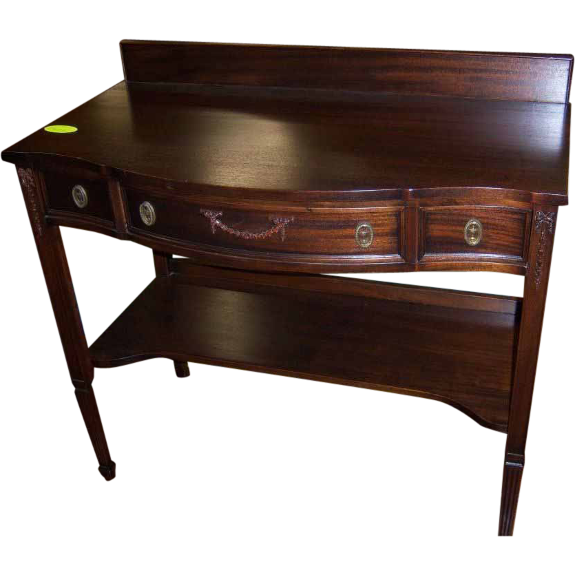 Mahogany Server or Pier Table J K Rishel Co from