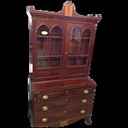 Mahogany Secretary with Bookcase, Federal Hepplewhite Period