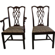 Mahogany Chippendale Style Dining Chairs, set of 8