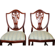 Mahogany Hepplewhite Sheraton Style Dining Chairs, Set of 8