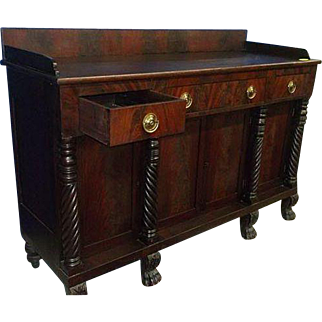Mahogany Federal Empire Sideboard
