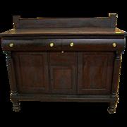 Mahogany Sideboard, Empire Federal Period, Southern