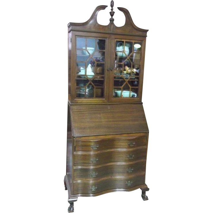 Mahogany Secretary with Bookcase