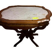 Walmart Victorian marble top lamp or end table