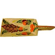 Peter Hunt American Folk Art Hand-Painted Antique Wooden Grain Scoop