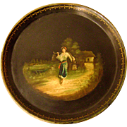 Exquisite Circa 1840 Russian Handpainted Tray