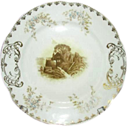 Imperial Karlsbad China Transferware Plate, PB 2370