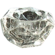 Faceted Open Salt - Clear Thick Glass
