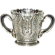 Crystal Double Handled Footed Toothpick Holder
