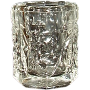 Coronet Crystal Toothpick Holder Pressed Grapes and Leaves Pattern