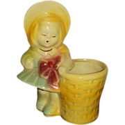 USA Pottery 543 Girl with Basket Figural Planter