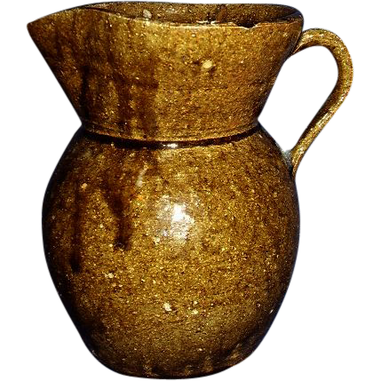 Catawba Valley Pottery Alkaline Glaze Pitcher Circa 1865