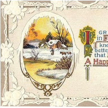 1910 Embossed Happy New Year Post Card
