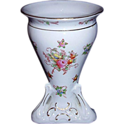 Takito TT Japan Porcelain Footed Vase, MINT, Hand Painted