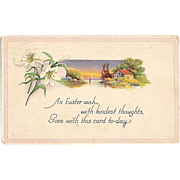 1919 Easter Wishes Post Card