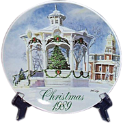 Smucker's Christmas Plate 1989 David Coolidge Artwork