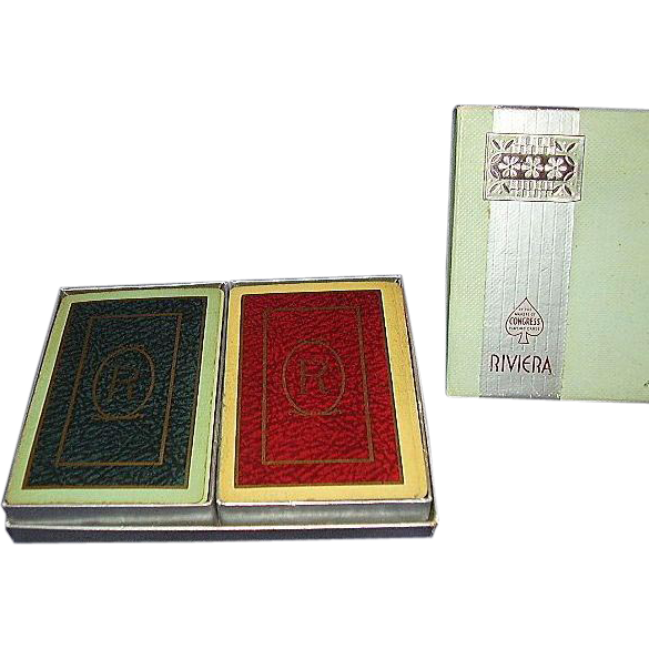 Congress Riviera Monogram R Playing Cards ~ Double Deck