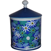 Royal Crown Vanity Jar Canister ~ Daisy Daisy by Pia #2857 ~ Japan