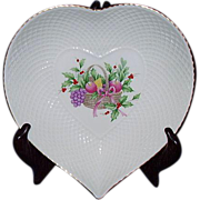Mikasa Heart Dish Christmas Spirit B2098 Bone China Narumi Japan