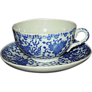 Japanese Porcelain Phoenix Bird Cup and Saucer