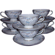 "Imperial China ""Seville"" Japan ~ 6 Cup & Saucer Sets Grouping"