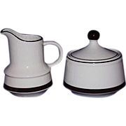 Stoneware Creamer and Sugar Set ~ Japan ~ 1960-70's