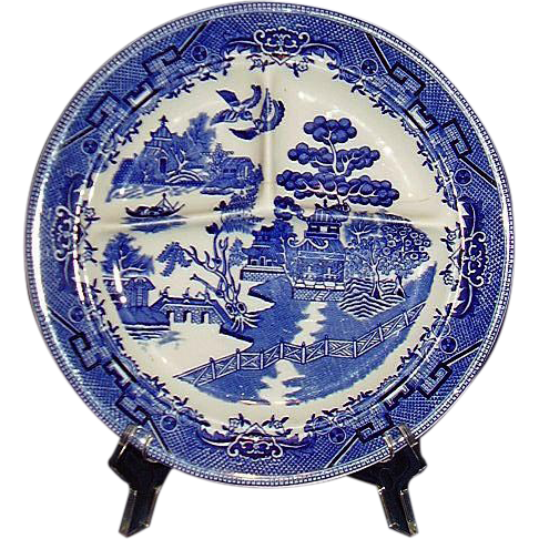 Blue Willow Restaurant Ware Grille Plate Ideal Ironstone