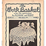 """The Work Basket"" Grouping of 7 Home and Needlecraft Booklets 1948-1951"