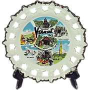 Vermont Souvenir Plate, 1980, Made in Korea