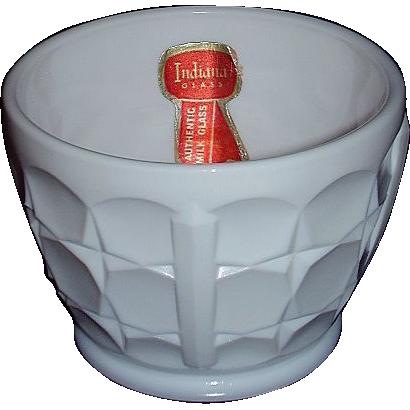 "Indiana Milk Glass ""Constellation"" Nut Cup, Circa 1940"