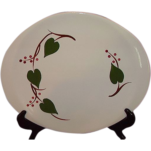 Blue Ridge Canonsburg Stanhome Ivy Platter, Large 14 inches