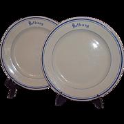 McNicol China USS Navy Ship Bethany Salad Plates 1950s